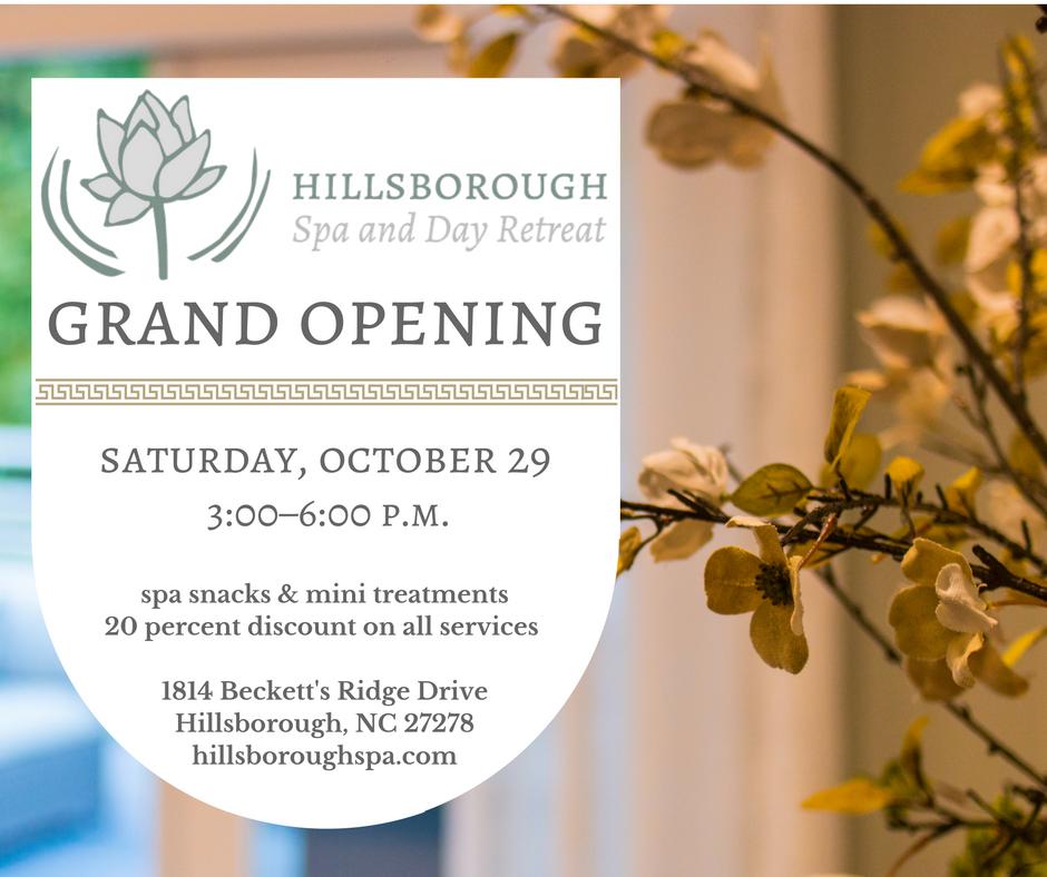 Hillsborough Spa Grand Opening